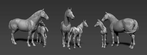 Horses by KEileena