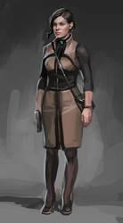 Female character sketch by KEileena