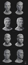 Heads sculpt by KEileena