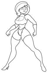 Not Elastigirl Stand 4 Colorin By Kilowatts62-digi by kilowatts62