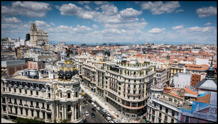 Madrid from high by MarkHumphreys