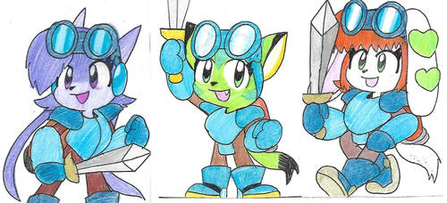 Freedom Planet X Rocket Knight Adventures by Edxtreme