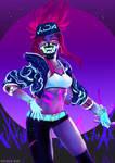 Kda Akali (Neon Version) by BlazenstarShine