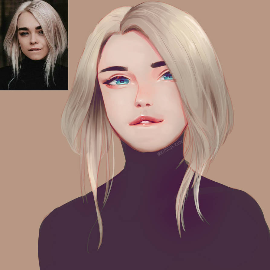 White Hair by BlazenstarShine
