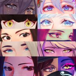 Eyes by BlazenstarShine