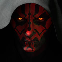 Maul - Face Detail by thetechromancer