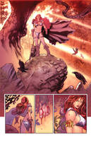 Red Sonja page1 by PaulRenaud