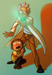 Rick and Morty by mr-book-faced