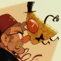 Geezer vs Dorito: SMACKDOWN by mr-book-faced