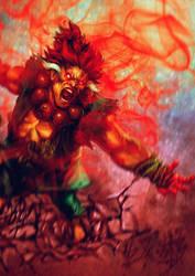 Gouki's wrath by Jackywang