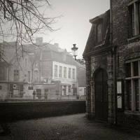 Brugge in fog 1 by giedriusvarnas