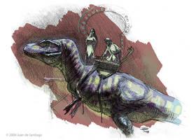 Arabian T-Rex by Red-Dilopho