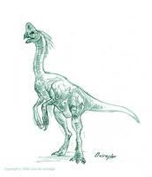 Oviraptor sketch by Red-Dilopho