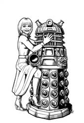 Katy Manning and Dalek by WillPhantom