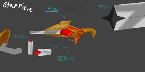 Lancer star rifle by DratFurious8
