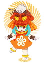 The lion of Fukuoka [ Haji-tan ] by Menulizz