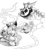 Kirby Inktober Day 24: Most Desired Fight Scene by Nintooner
