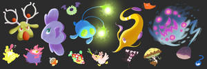 Lots of Shiny Pokemon! by Nintooner