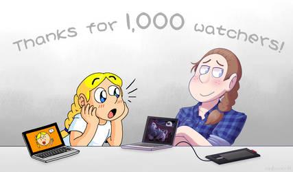 1,000 Watchers! by Nintooner