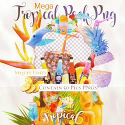 Mega Pack png || 50# Tropical  by SequelEdits