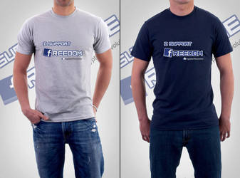 I support freedom - tshirt by maxspider