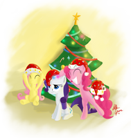 Holiday Ponies by SameAsUsual