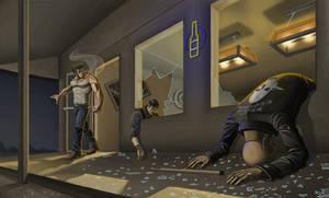 Wolverine - Bar Fight by AJNazzaro