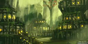 Swamp town by HideTheInsanity