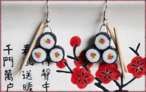 Sushi earrings ver 2 by GloomySisterhood