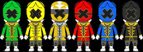 [Sentai Chibis] ToGo Sentai Crossenger by Volt-Gokai