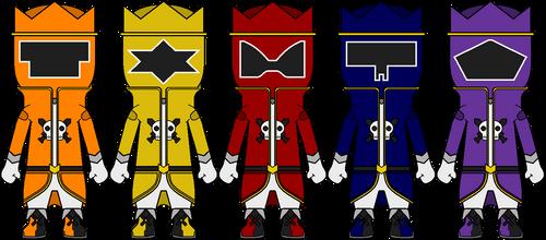 [Sentai Chibis] Ouritsu Sentai Rokaiger by Volt-Gokai