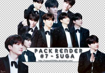 [ Pack Render #7 ] : Suga - BTS : by hyesoo0304bts