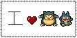 Munchlax Snorlax Love Stamp by ShadowsStoreHouse