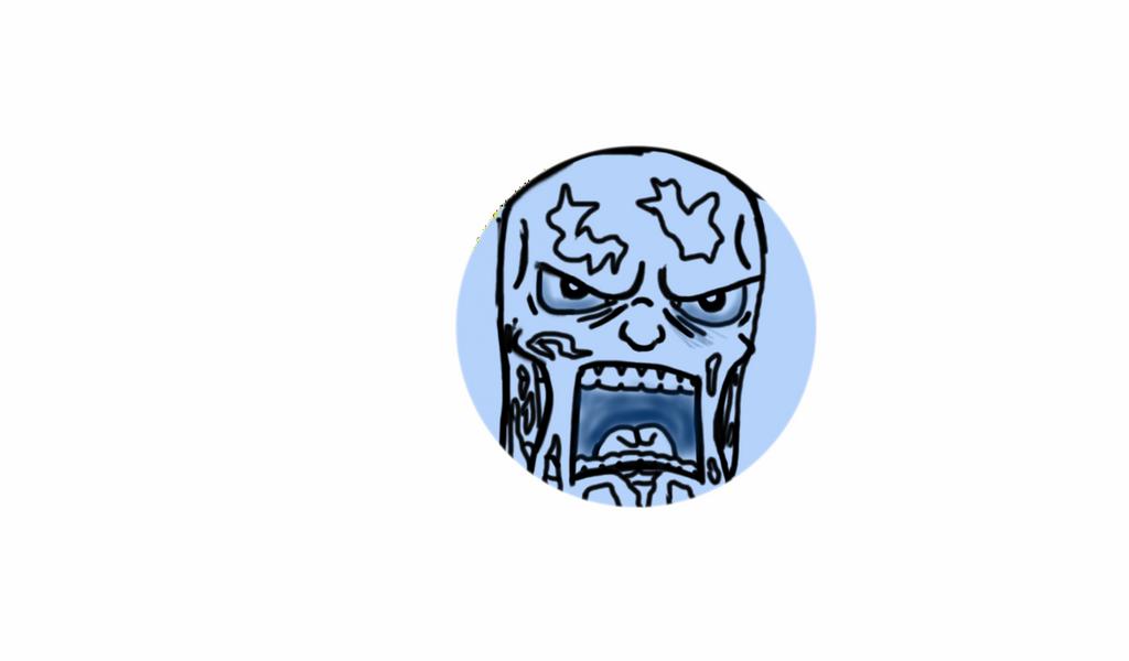 Blue man dysfunction by GreedTheGreedy
