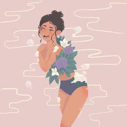 [Commission] Shower Cutie by MarieSeuhans