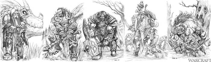 Warcraft Character sketches by chrislie