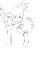 Day 22 - Myra with Eevee by XinAsuka