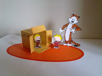Calvin and Hobbes pop up by WillziakDS
