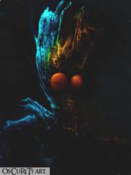 the blue man by Oscurityman