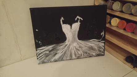 Attempt at Ballerina Tutu dress painting by elegantlywasted2