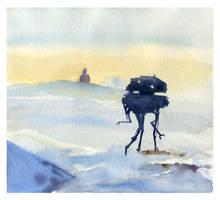 Imperial Probe Droid Near Echo Base by DayDreamOrNightmare