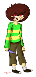 Chara doodle by happyeggboy