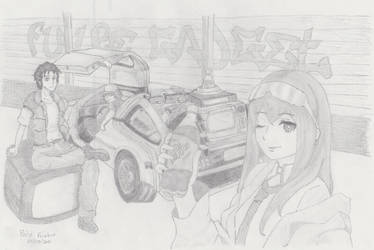 Steins Gate x Back to the Future by Zorosuke