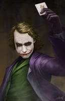 Heath Ledger Joker by erlanarya