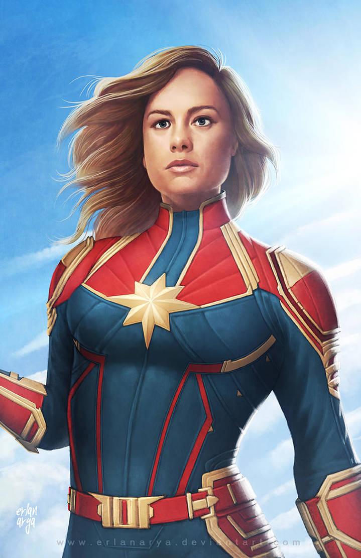 Captain Marvel by erlanarya