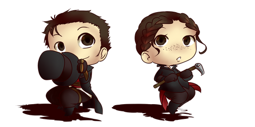 [Fan-art] Assassin's creed: Jacob x Evie [CHIBI] by aude-javel