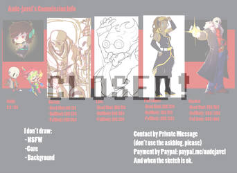 Comissions Info [CLOSE] by aude-javel