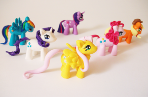 My little pony Friendship is magic clay figures by FairysLiveHere