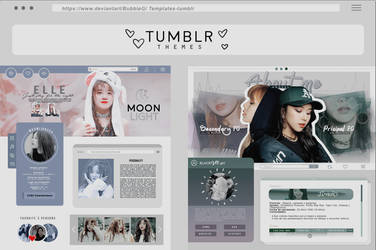 {TUMBLR} Themes01.template by Bubblegomi