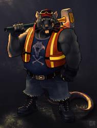 Big rat 001 by Tralkan